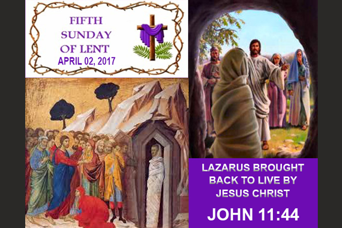 5th Sunday Of LENT Lazarus 1200×800