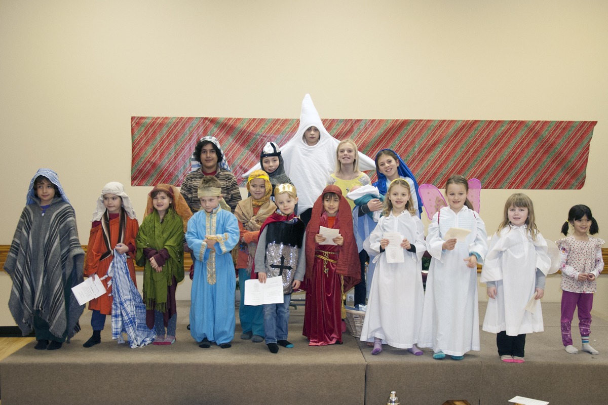 The Children Of The Holy Family Catechetical Program Who Took Part In The Nativity Play.