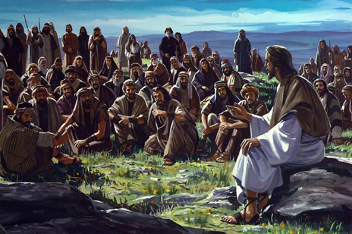 Jesus Teaching On Mountain 1200×800